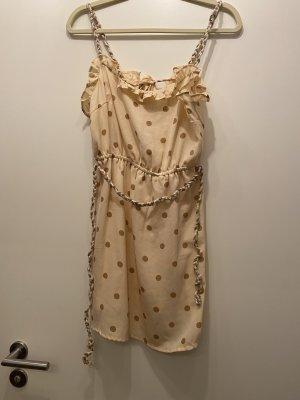 Kleid Pünktchen kordelband Größe 40 rehkostüm