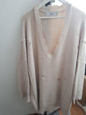 Zara Robe en laine beige clair