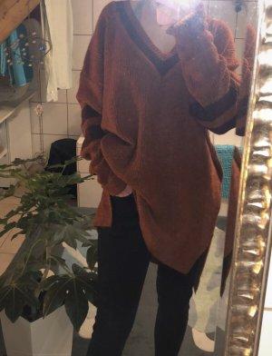 peppercorn Długi sweter cognac-brązowo-czerwony