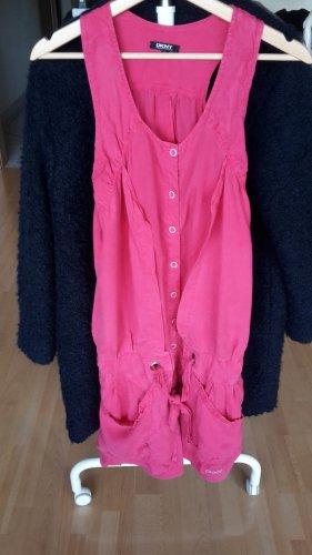 DKNY Vestido strapless rosa