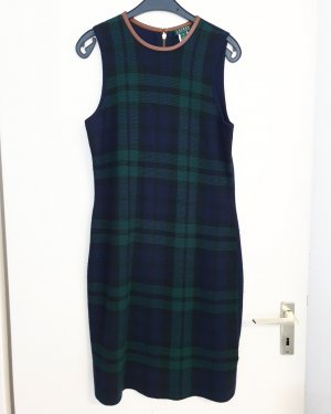 Kleid Ralph Lauren Wolle M grün blau