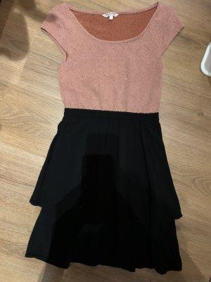 Review Mini Abito nero-color oro rosa