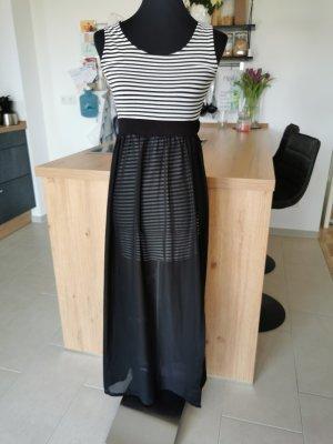 Kleid Rock Mini/Maxi Schwarz/Weiß Größe XS-S