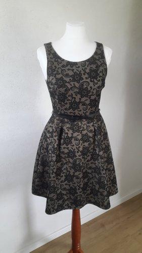 C&A Yessica Midi Dress black-camel polyester