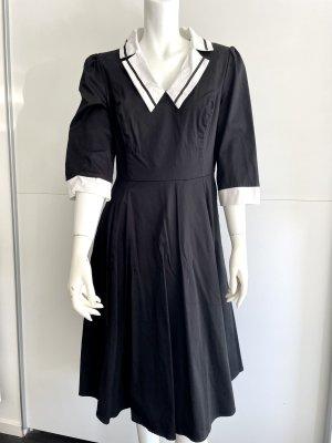 Hearts & Roses Summer Dress black-white cotton