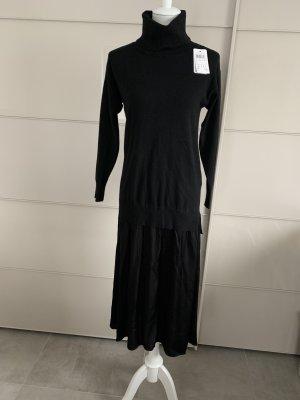 Kleid Rolli Hallhuber XS Schwarz Midi *Neu *