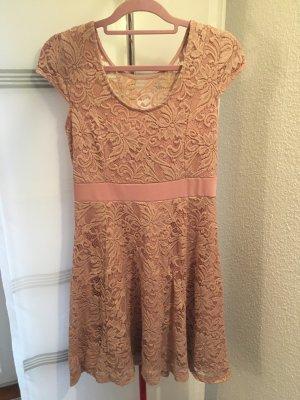 Bodyflirt Koronkowa sukienka różany-jasny różowy