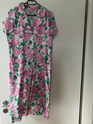 Kleid Rosa Rosen 40 L Atelier Goldener Schnitt