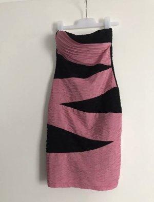 Kleid rosa schwarz in Gr. 34