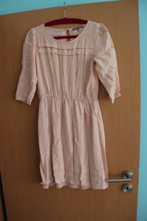 Kleid rosefarben  mit 3/4-Arm