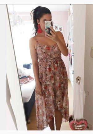 Kleid Rosen Blumen Vokuhila S blogger hipster boho Volants