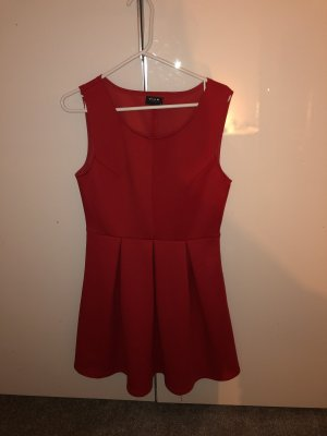 Vila Balloon Dress red