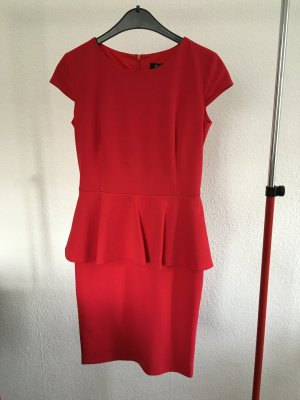 Paradi Peplum Dress red