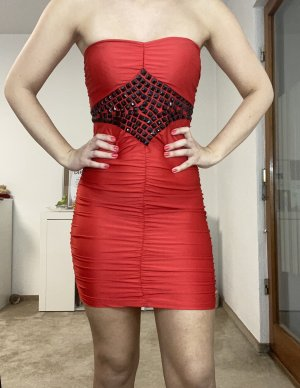 Tube Dress red-brick red