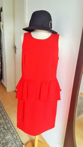 Michael Kors Peplum Dress red