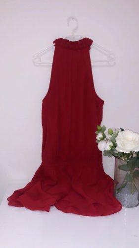 Kleid rot minikleid dress kleid elegant neckholde