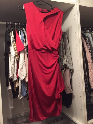 Bodyflirt Sukienka z wycięciem ciemnoczerwony
