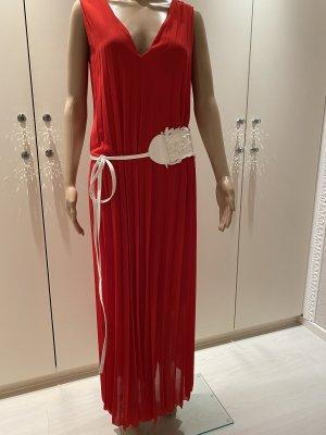 Kleid rot mit Gürtel einheitsgrösse neu mit Etikett