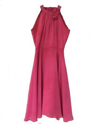 Kleid rot pink Midikleid XS Marie Blanc