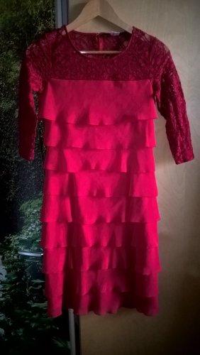 Ashley Brooke Robe de cocktail rouge polyester