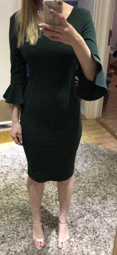 Vestido estilo flounce petróleo-verde oscuro