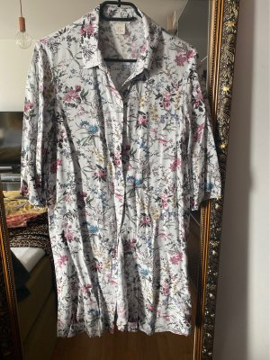 H&M Robe chemise gris clair-rose