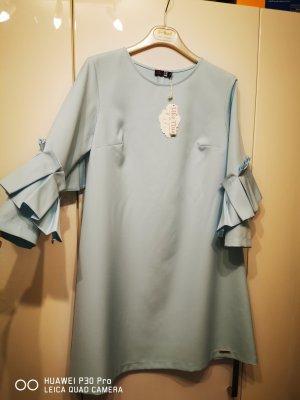 08/16 Robe trapèze bleu azur