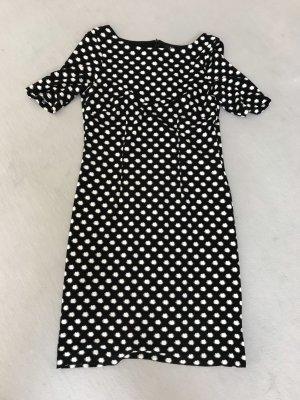 Kleid S'Oliver Gr. 40; schwarz-weiß gepunktet