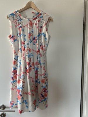 Kleid S Weiß Blumen Etuikleid