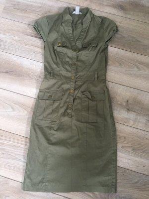H&M Robe chemise gris vert