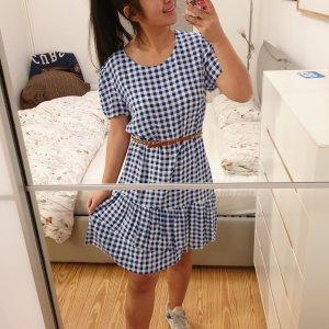 Kleid samsoe samsoe neu etikett blau weiß