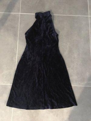 Kleid Samt Dunkelblau