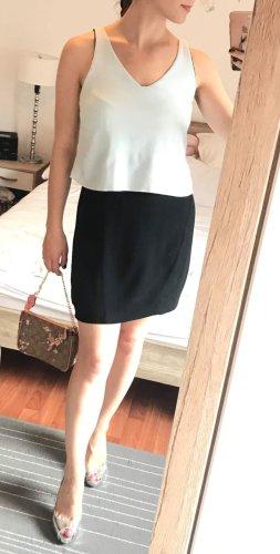 Kleid Sandro Gr. 38 M (3) schwarz-weiß offene Rücken Rückenfrei Cocktailkleid