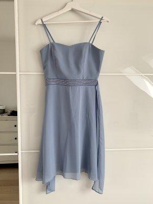 Peek & Cloppenburg Robe de bal bleu azur-argenté