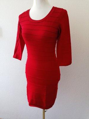 Kleid Schlauchkleid Partykleid elastisches Kleid Mango rot dunkelrot M neuwertig