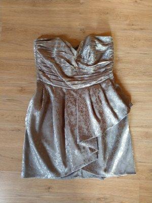 H&M Vestido bandeau color plata-gris claro