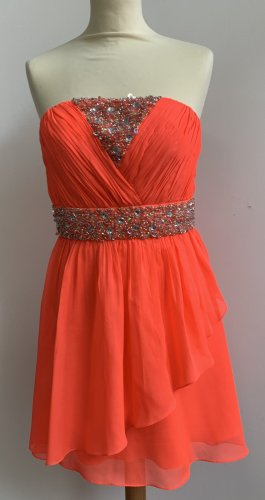 Oneness Off-The-Shoulder Dress bright red-salmon