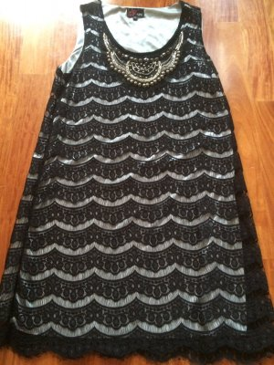 Yumi Pinafore dress silver-colored-black