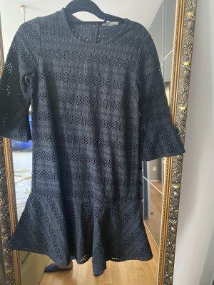 All Saints Robe trapèze noir coton