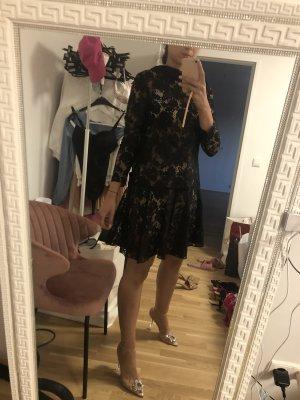 H&M Sukienka z rękawem balonowym czarny