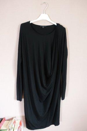 Kleid, schwarz, Cos, drapiert, minimalistisch, schlicht