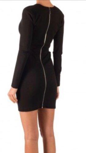 Kleid schwarz cut outs bodycon back zip hinten Asos zara neu NP 190 S M