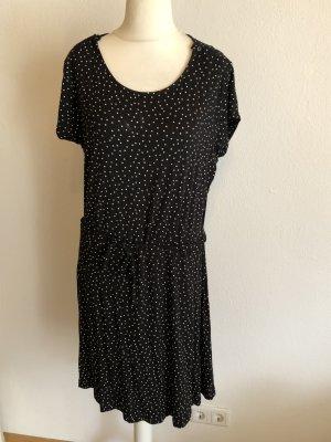 Kleid schwarz gepunktet mit Gürtel Gr. XL