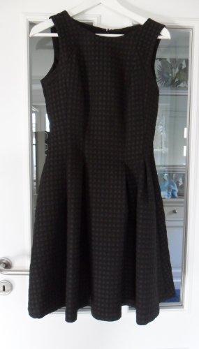 Kleid schwarz/grau, kariert, Gr. 40, blickdicht, Top Zustand