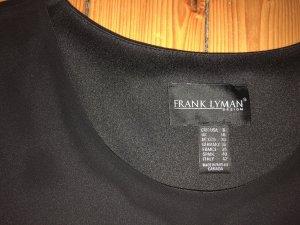 Kleid schwarz grau Materialmix