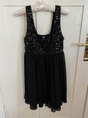 H&M Robe à paillettes noir