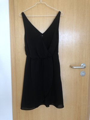 Kleid , schwarz, H&M, Gr. 38, gerafft
