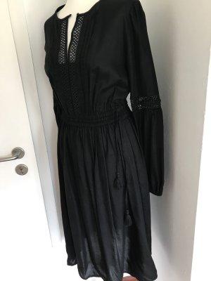 Kleid schwarz Hippie Bohoo