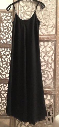 Vestido de cuero negro Poliéster