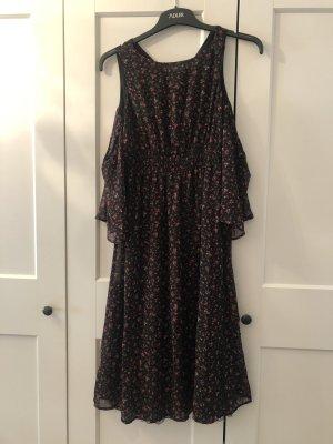 Kleid Schwarz mit Muster